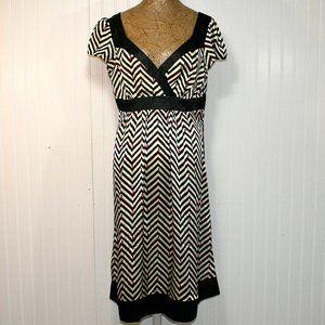 VINTAGE ROBBIE BEE Chevron Stripe Cap Sleeve Dress